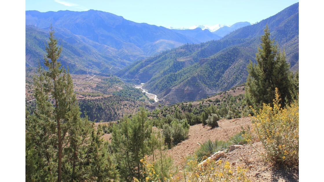 D'Azilal la route goudronnée qui mène à Agouti est très montagneuse .
