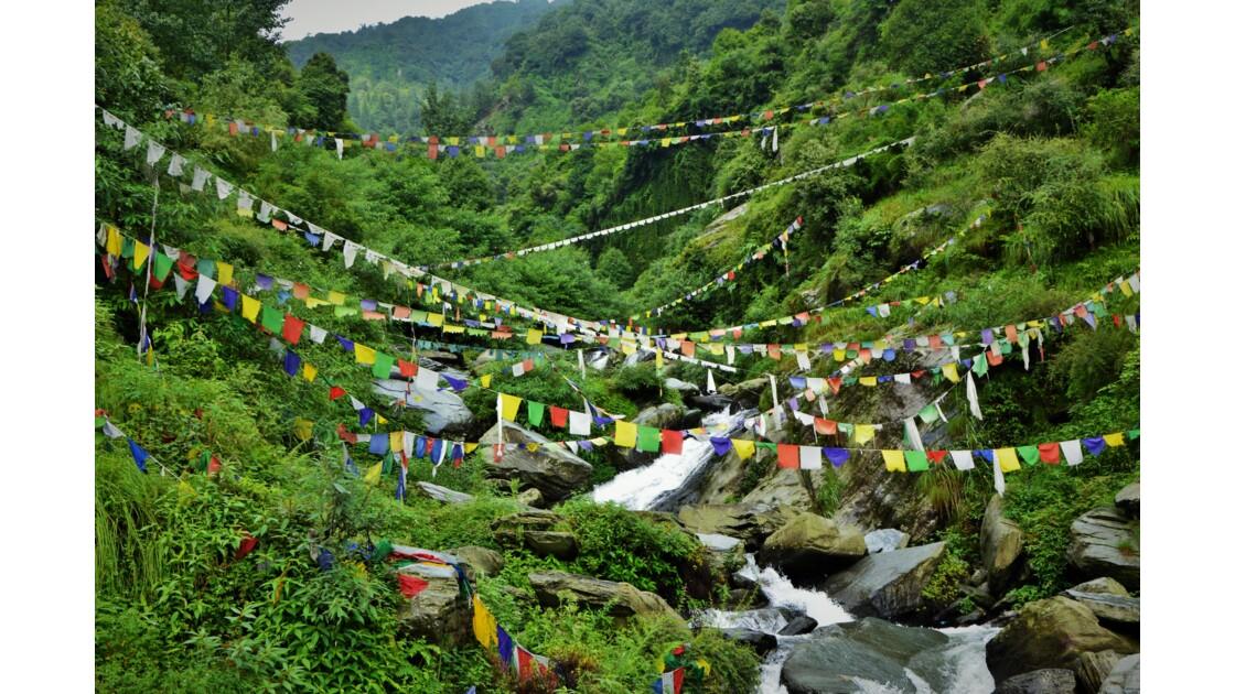 Guirlande de prière Tibétaine à Dharamsala