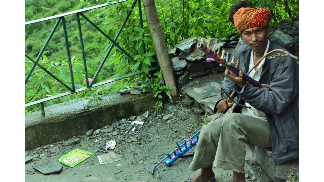 Musicien indien à Dharamsala