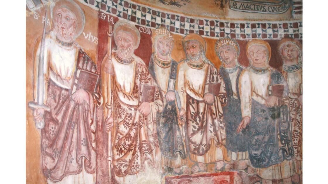 fresque chapelle romane