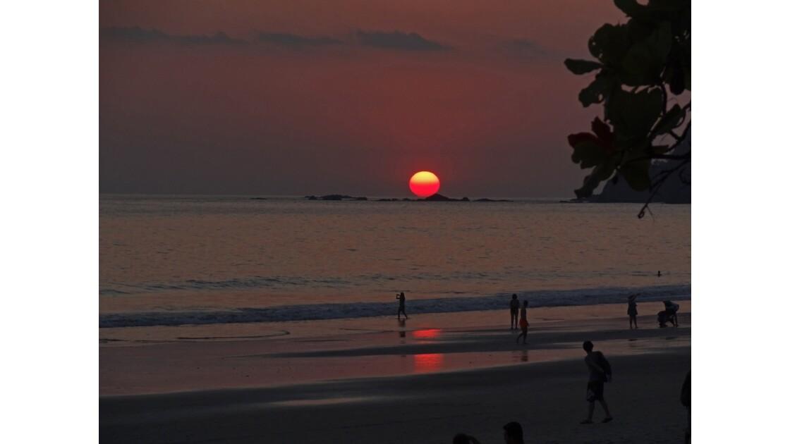 Costa Rica Manuel Antonio Soirée sur playa Espadilla North 6