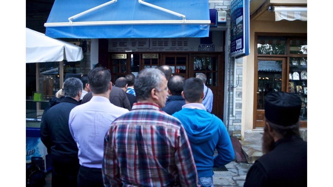 L'attente, vers le mont Athos, Grèce
