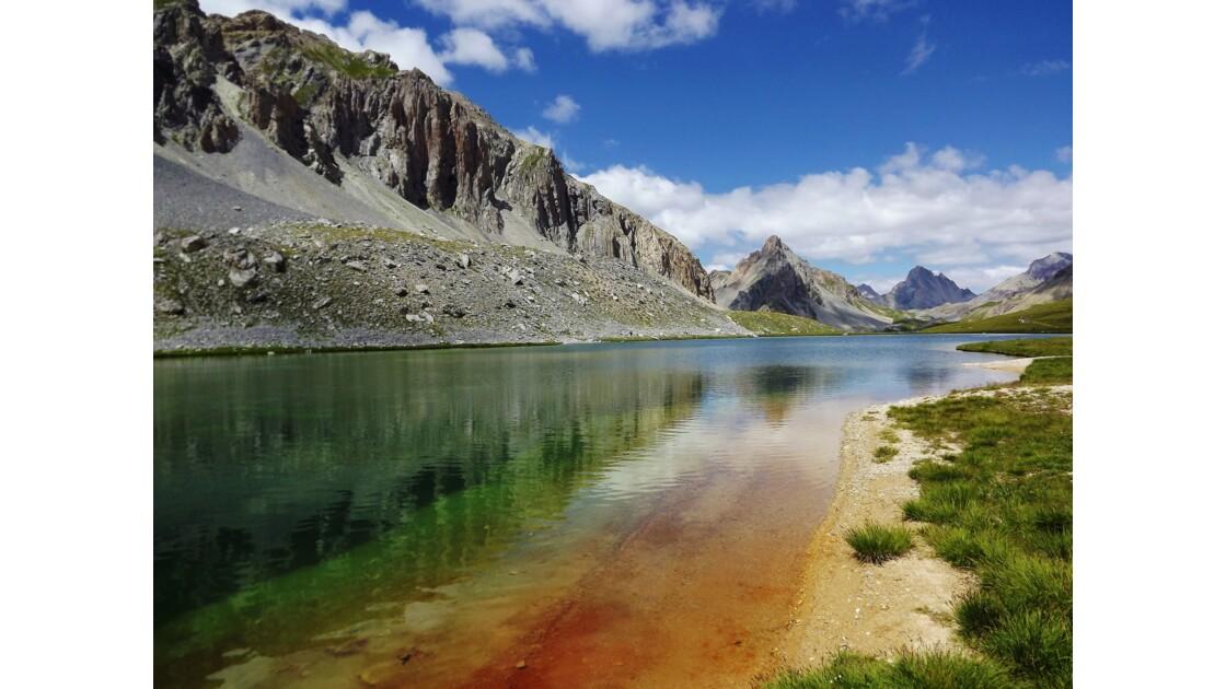 le lac de l'oronaye