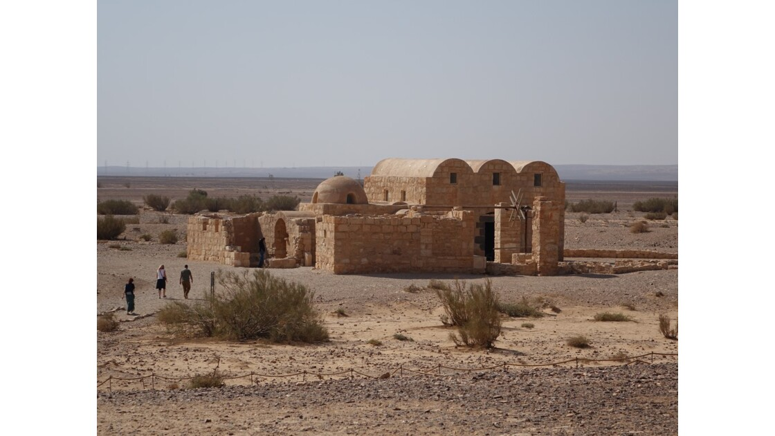 Jordanie Entrée de Qasr Amra