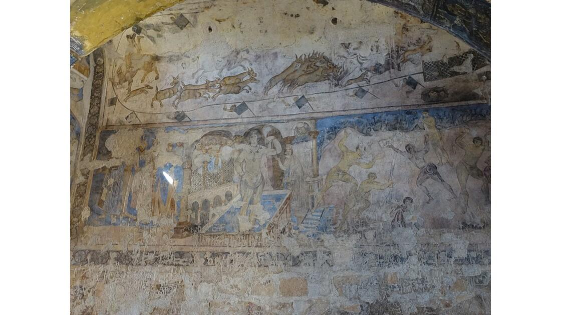Jordanie Qasr Amra fresques de la salle de réception 4