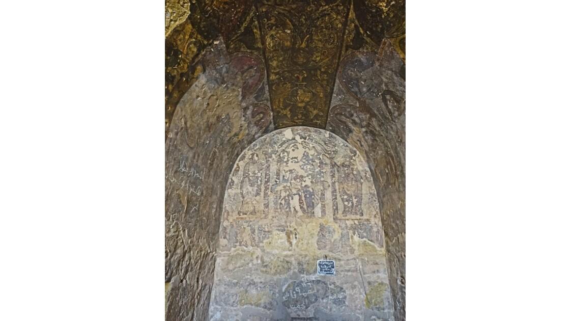 Jordanie Qasr Amra fresques de la salle du trône