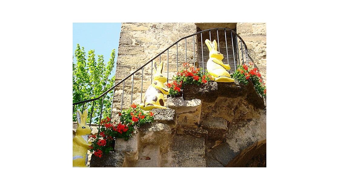 L'escalier fleuri de Richerenches