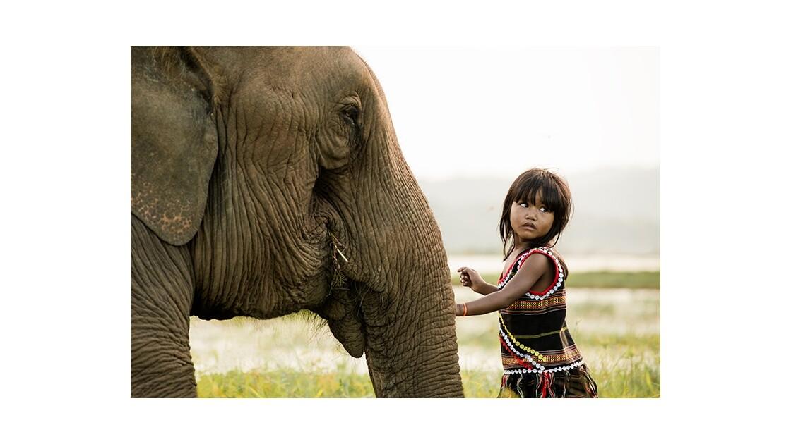 Kim Luan et son élephant