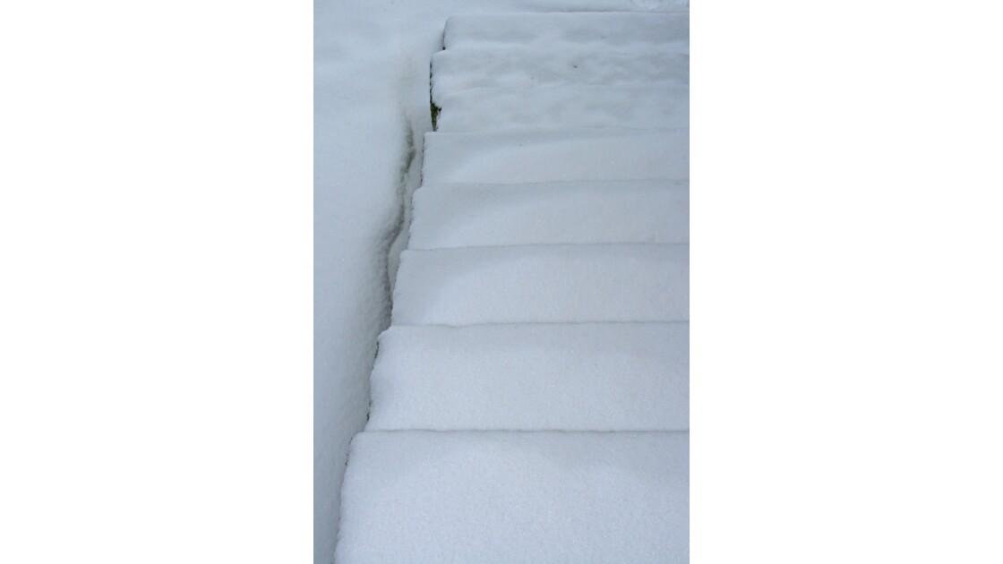 escalier hivernal