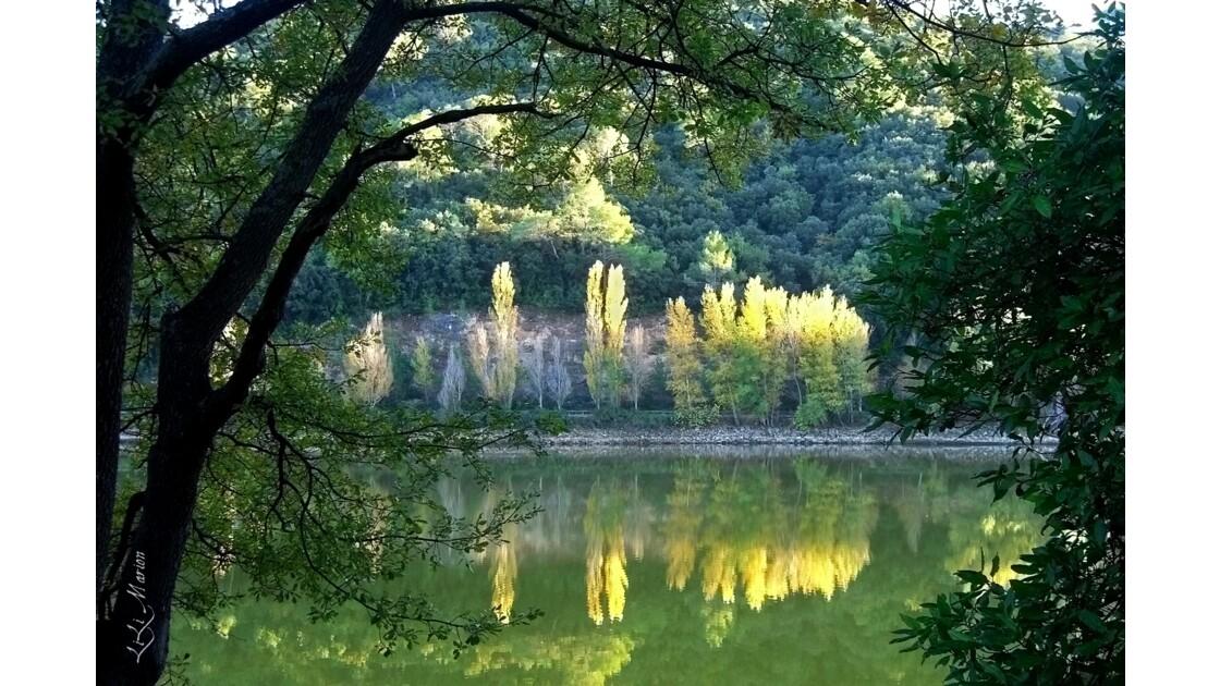 Miroir d'automne au lac de Carcès (83)