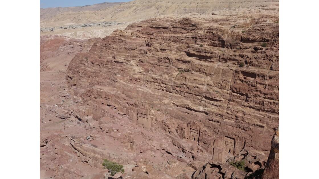 Jordanie Pétra Montée Vue depuis le Haut lieu du Sacrifice 2