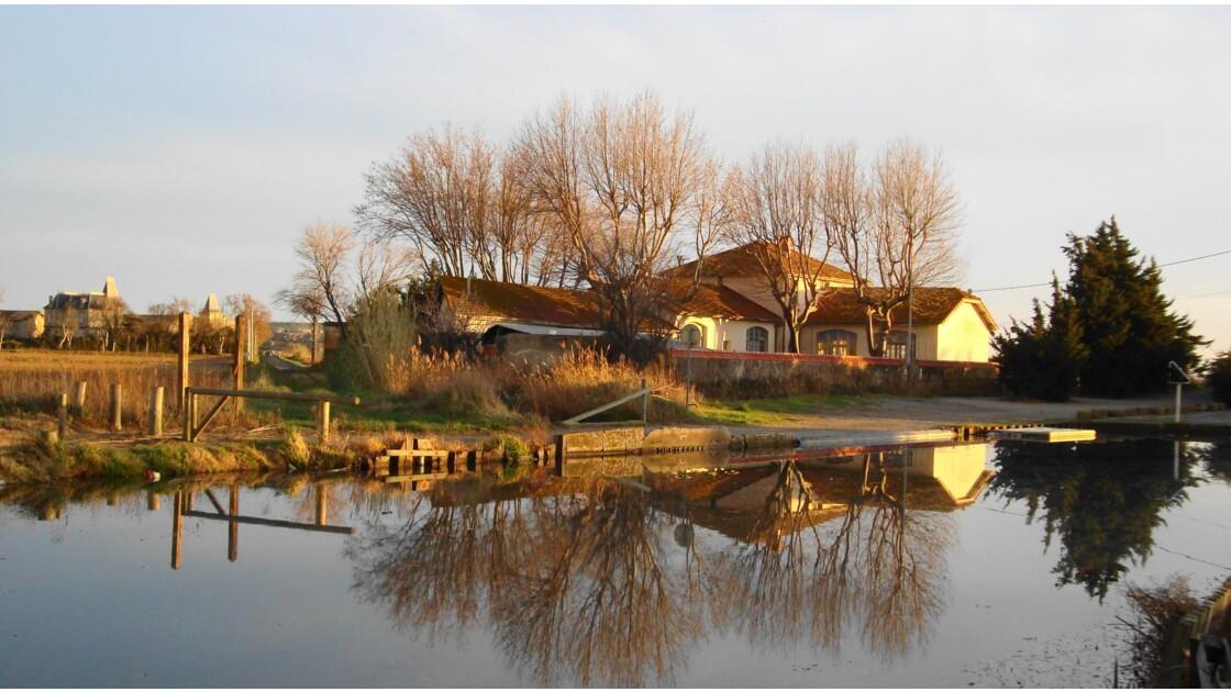 Canal de la Robine à Mandirac (Aude)