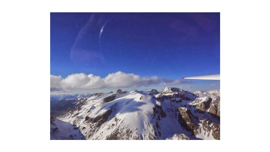 vue sur le massif du chambeyron (ubaye)