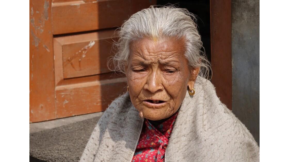 Népal Khokana Visage de Newar 4