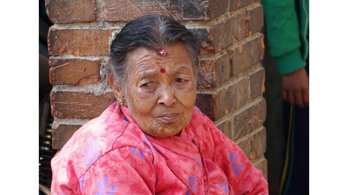 Népal Khokana Visage de Newar 6