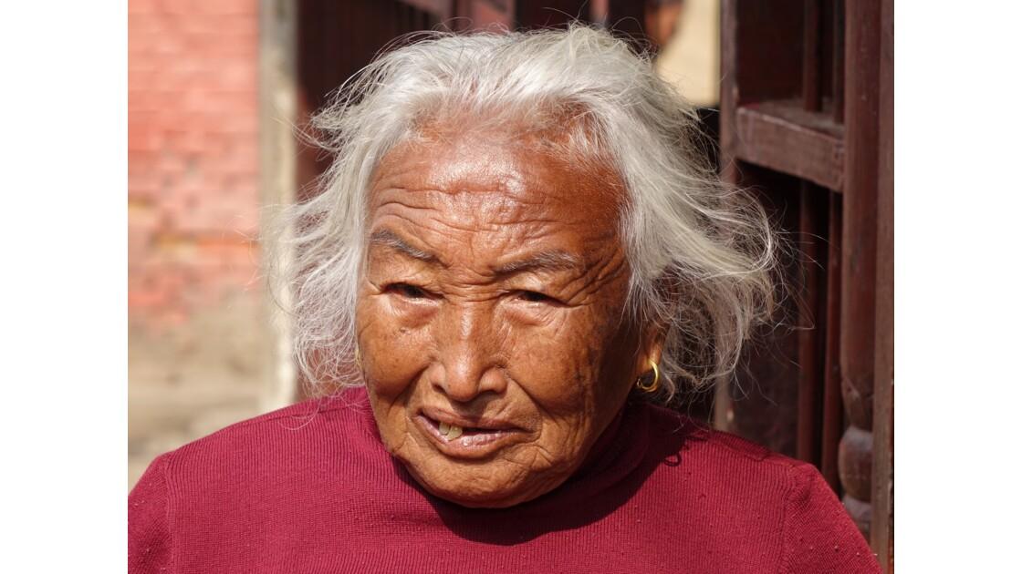 Népal Khokana Visage de Newar 2