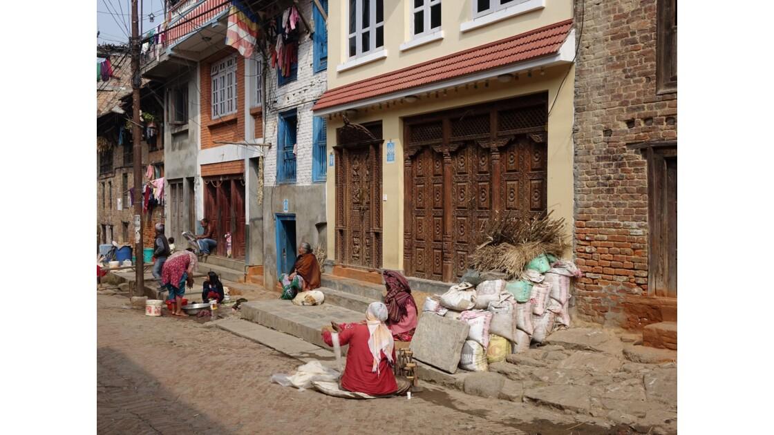 Népal Khokana Rue principale 1