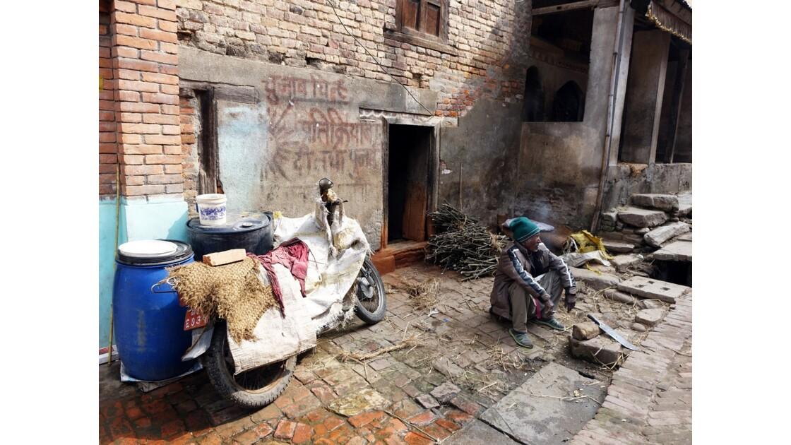 Népal Khokana Rue principale 4