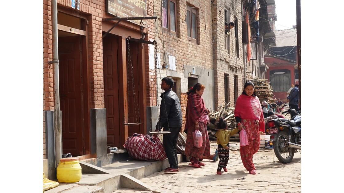 Népal Khokana Rue principale 5