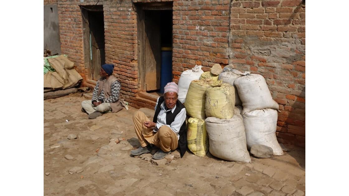 Népal Khokana Rue principale 6