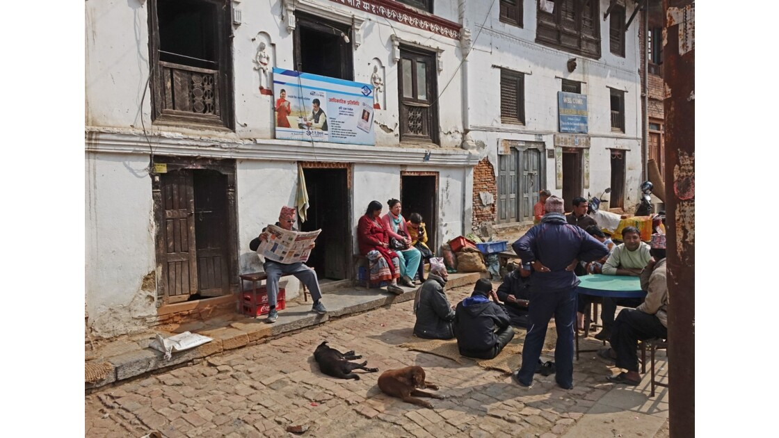 Népal Khokana Rue principale 8