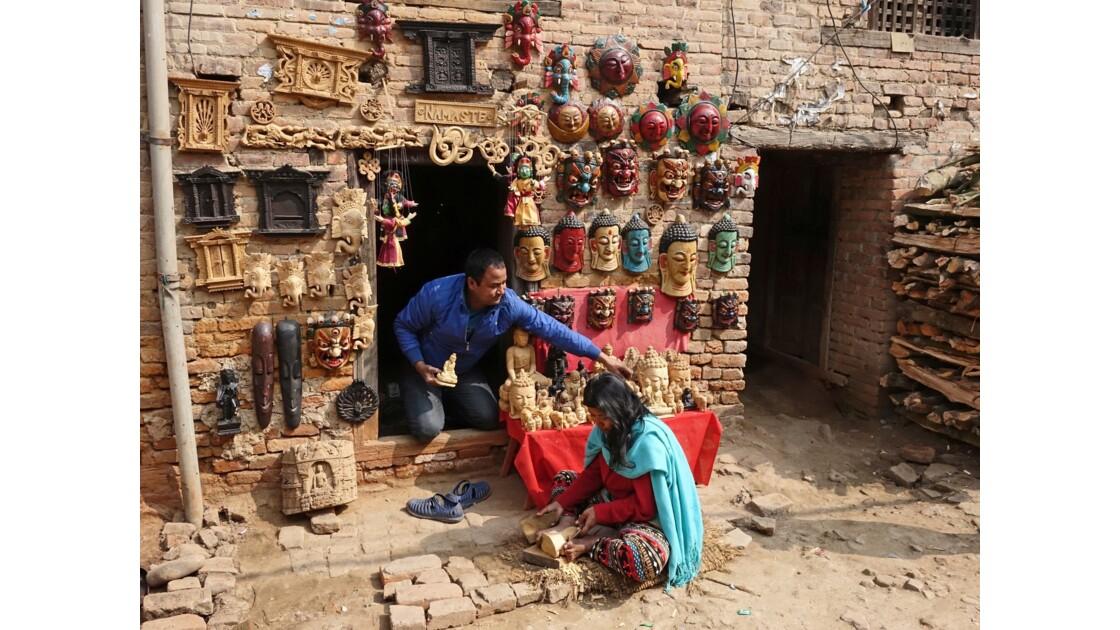 Népal Khokana Sculptures