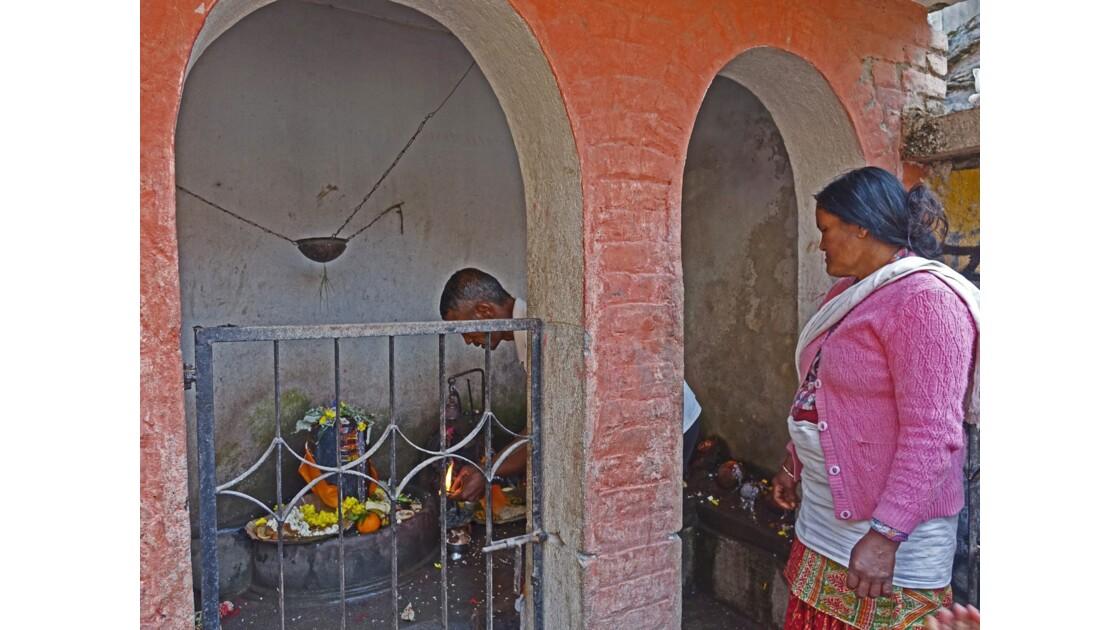 Népal Khokana offrande 2