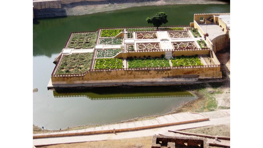 Jardin flottant au Rajasthan