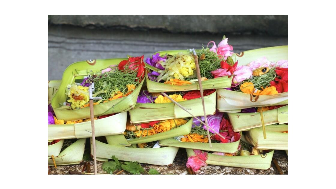 Offrandes aux Dieux de Bali