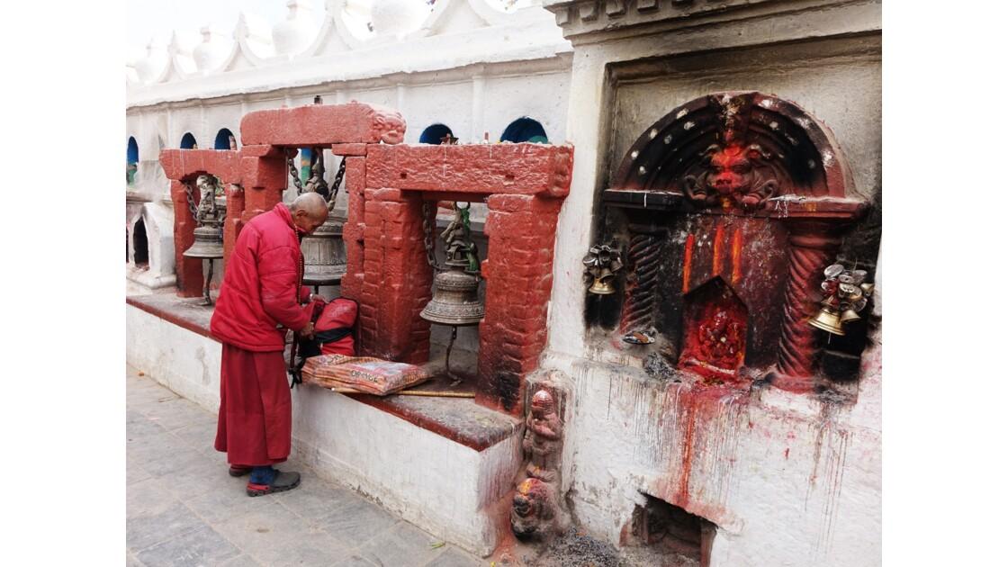 Népal Bodhnath autour du Stupa 1