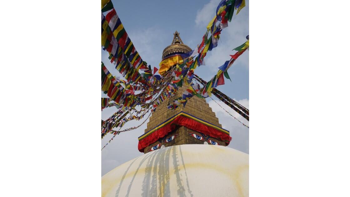 Népal Le Stupa de Bodnath les yeux de Bouddha 2