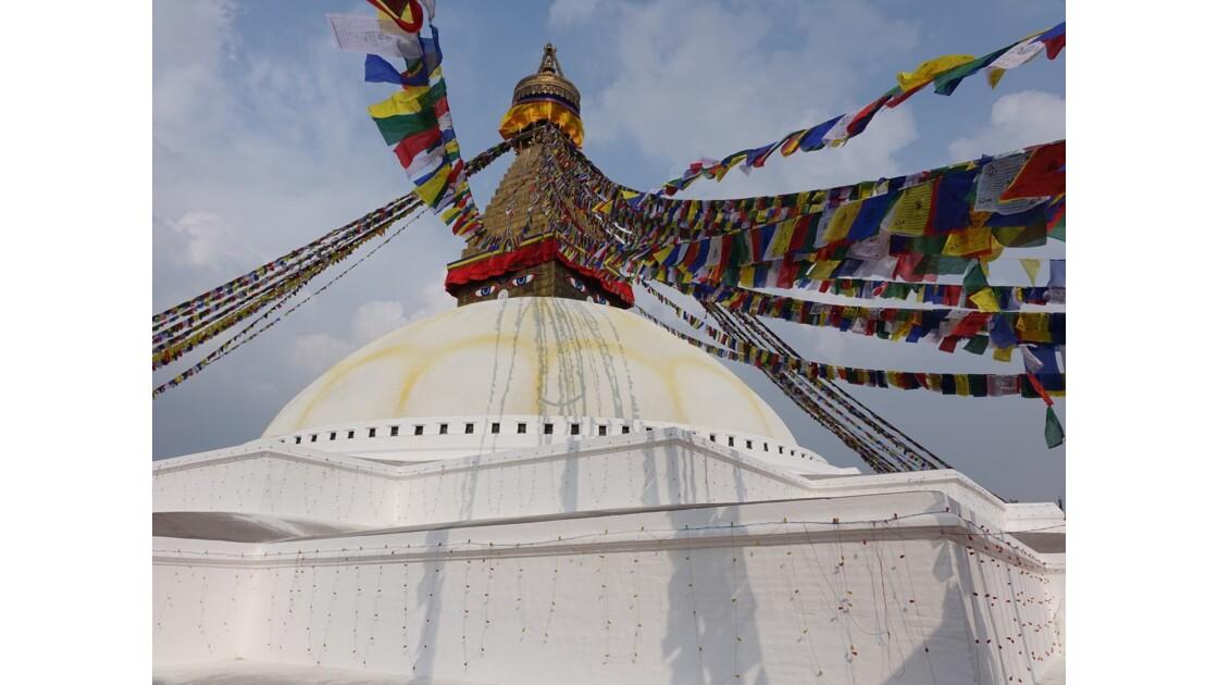 Népal Le Stupa de Bodnath les yeux de Bouddha 3