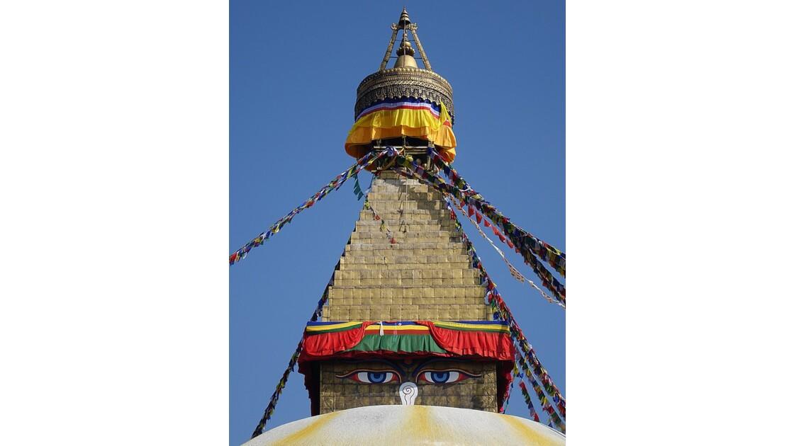 Népal Le Stupa de Bodnath les yeux de Bouddha 4