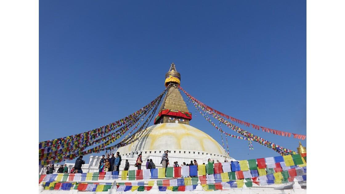 Népal Stupa de Bodnath Le Losar 1
