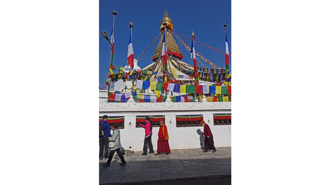 Népal Stupa de Bodnath Le Losar 2