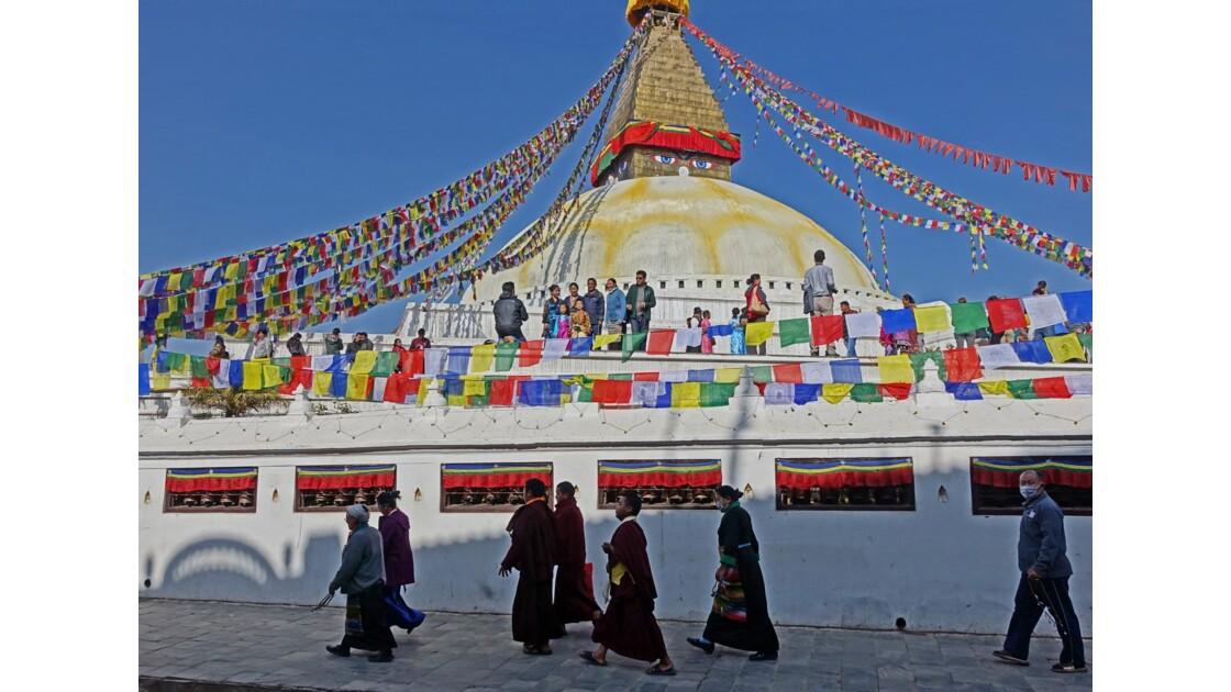 Népal Stupa de Bodnath Le Losar 4