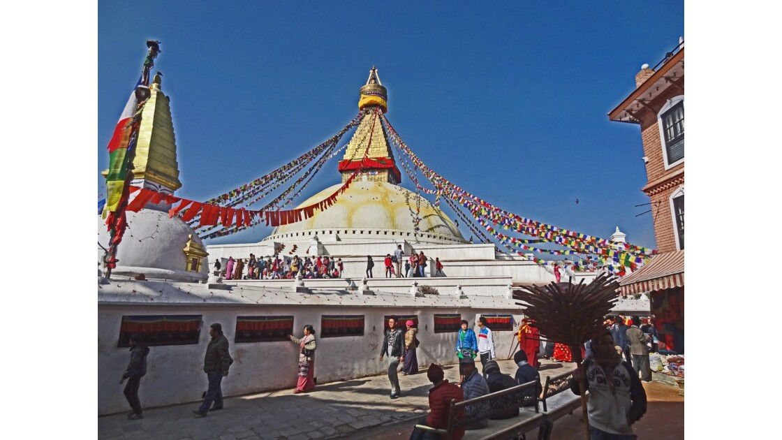 Népal Stupa de Bodnath Le Losar 5
