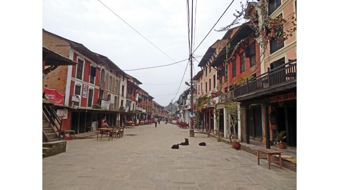Népal Bandipur Main Bazaar au petit matin 2