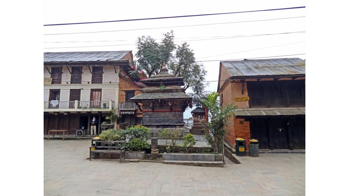 Népal Bandipur au petit matin Place centrale 3