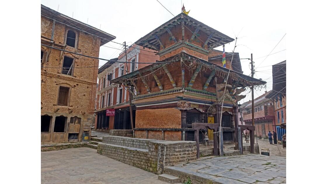 Népal Bandipur au petit matin Temple de Bindebasini Mandir