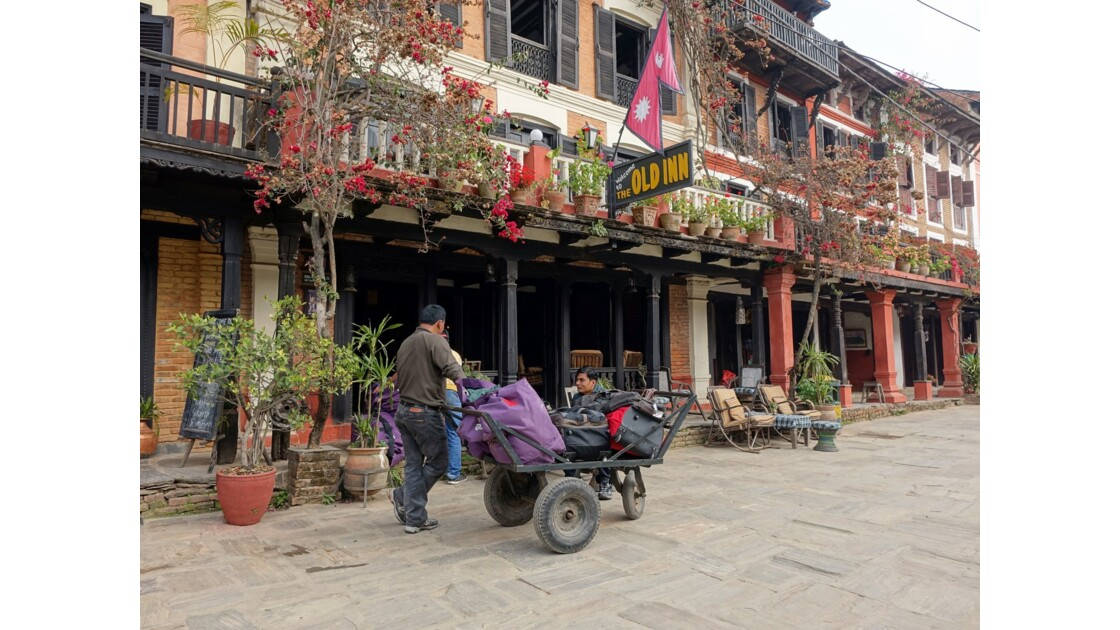 Népal Bandipur hôtel Old Inn sur Main Bazaar