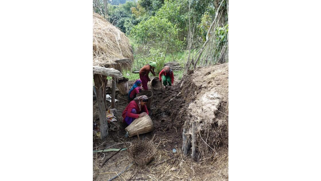 Népal Bandipur Trail Village près de la Prithvi Highway 9