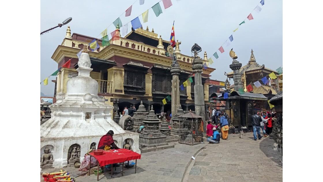 Népal Stupa de Swayambunath Monastère Drugpa Kagyu