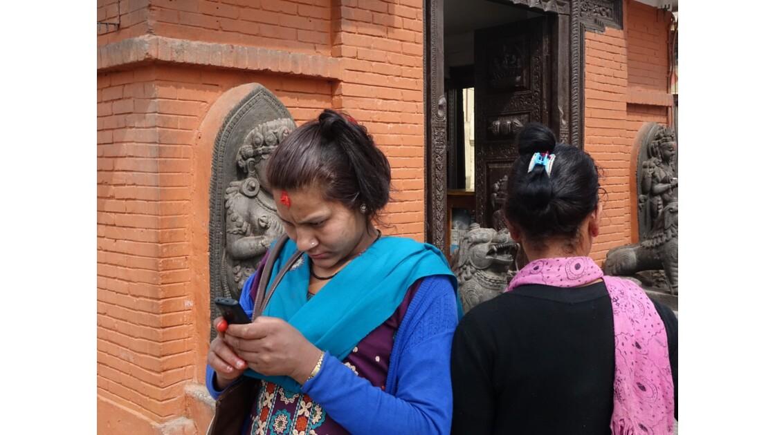 Népal Stupa de Swayambunath Tradition et modernité