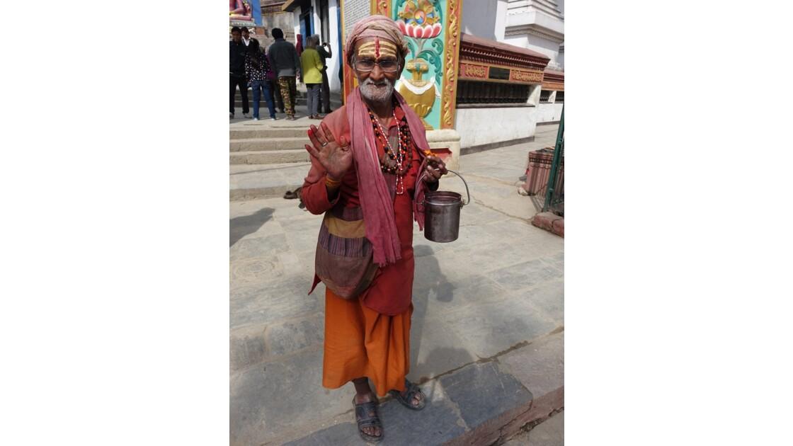 Népal Stupa de Swayambunath Sadhu 3