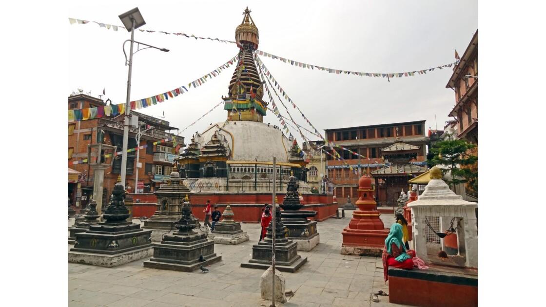 Népal Katmandou Square Nagha Bahal Stupa Kathesimbu 3