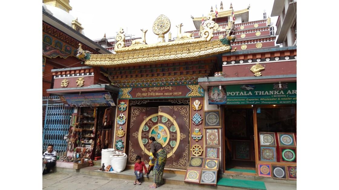 Népal Katmandou Square Nagha Bahal Temple Drubgon Jangchup Choelling 2