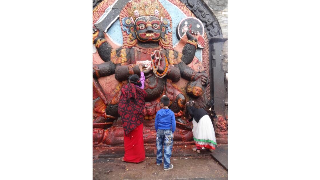 Népal Katmandou Durbar Square Kala Bhairab 2