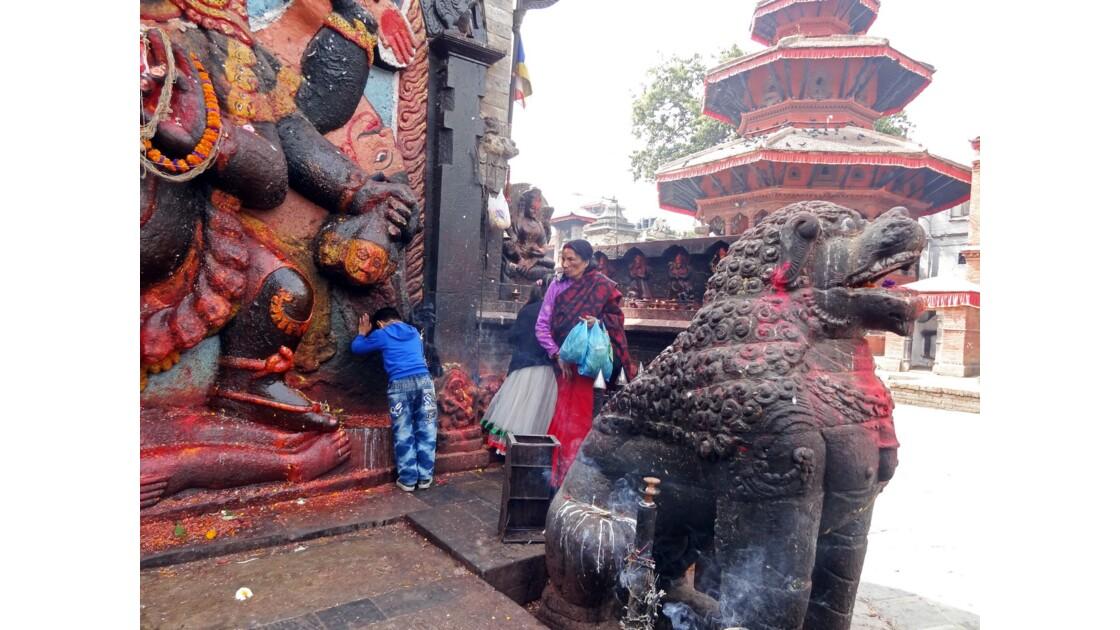 Népal Katmandou Durbar Square Kala Bhairab 3