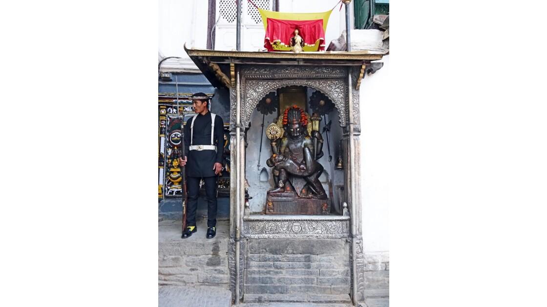 Népal Katmandou Durbar Square Najal Chowk Narasimha Statue 2